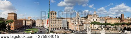 Rome, Italy. 16.10.2019. Streets Of Rome. Historical Place. Panorama Of The City Of Rome. Beautiful