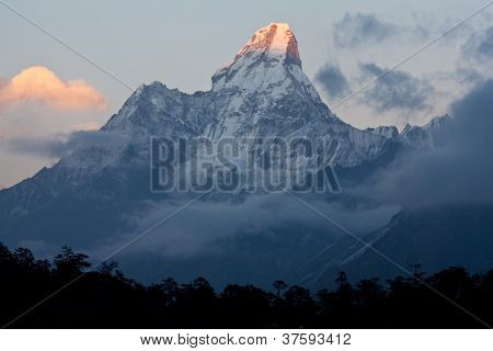 Ama Dablam Peak In Nepal Himalaya