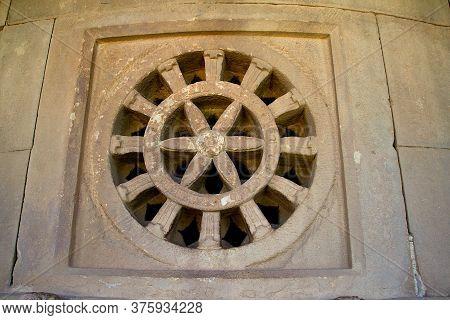 Multi-layered Stone Ventilator At Durga Temple, Aihole Near Bagalkot, Karnataka, India, Asia