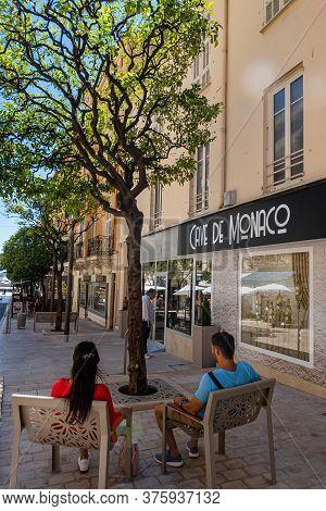 Monte Carlo, Monaco - July 4, 2020: The Cave De Monaco Offers A Very Wide Range Of Wines, Champagnes