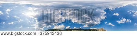 Panorama Sky With Clouds Without Ground, For Easy Use In 3d Graphics And Panorama For Composites In