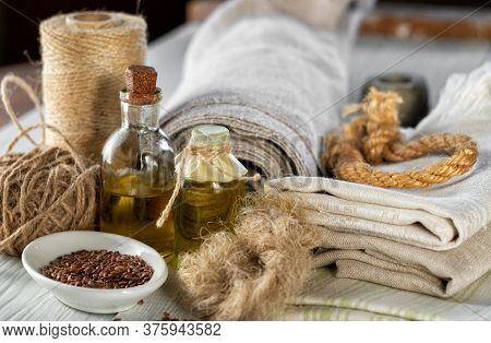 Flax Products, Linen Textiles, Rope, Threads, Linseed Oil And Flax Seed