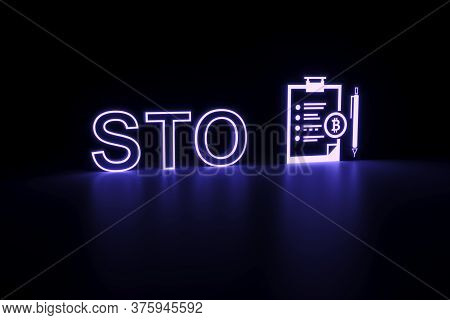 Sto Neon Concept Self Illumination Background 3d Illustration