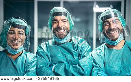Surgeons Smiling After A Successful Surgical Operation - Medical Workers The Real Heroes During Coro