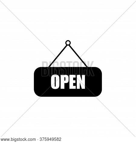 Open Sign Icon Vector On White Background.open Icon Isolated On White Background From Mall Collectio
