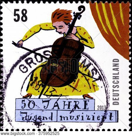 02 08 2020 Divnoe Stavropol Territory Russia Germany Postage Stamp 2013 The 50th Anniversary Of Juge