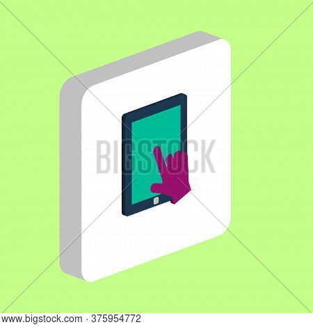Touch Screen Tablet Simple Vector Icon. Illustration Symbol Design Template For Web Mobile Ui Elemen