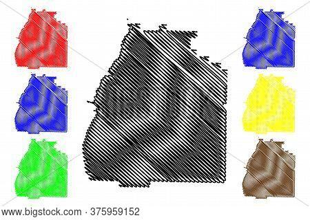 Quitman County, Georgia (u.s. County, United States Of America,usa, U.s., Us) Map Vector Illustratio