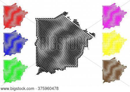 Talbot County, Georgia (u.s. County, United States Of America, Usa, U.s., Us) Map Vector Illustratio
