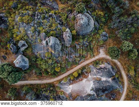 Landscape In The Natural Area Of Barruecos. Malpartida De Caceres. Extremadura. Spain.