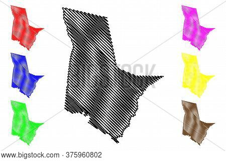 Tattnall County, Georgia (u.s. County, United States Of America, Usa, U.s., Us) Map Vector Illustrat
