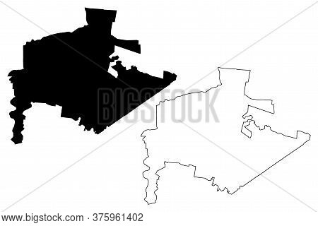 Guadalupe City (united Mexican States, Mexico, Free And Sovereign State Of Nuevo Leon) Map Vector Il