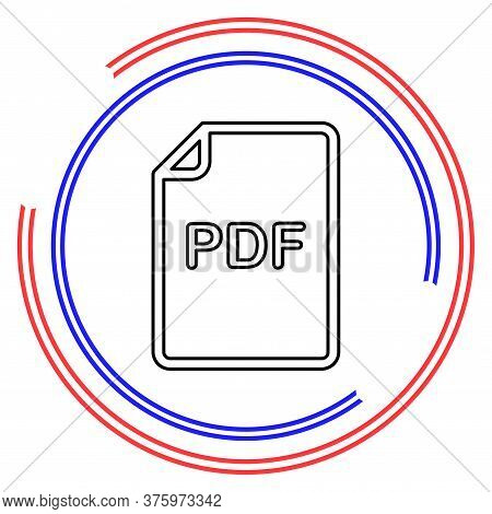 Download Pdf Document Icon - Vector File Format Symbol. Thin Line Pictogram - Outline Editable Strok