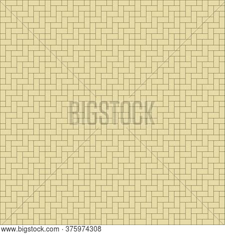 Woven Straw Seamless Background, Seamless Bamboo Pattern
