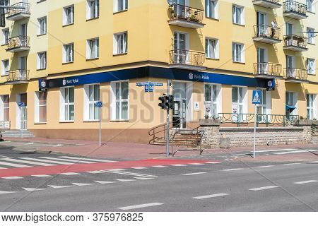 Swidnik, Poland - June 11, 2020: Pko Bank Polski. Pko Bank Polski Is Poland's Largest Bank Founded I