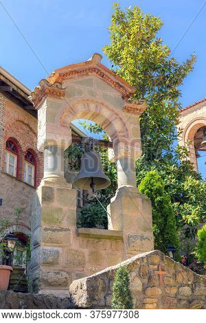 Bell Tower In Great Meteoron Monastery In Kalambaka, Meteora, Greece