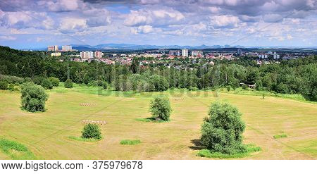 Sunny Landscape With Czech City Of Chomutov On 29th June 2020