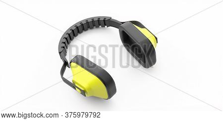 Ear Protection Defenders Isolated On White Background. 3D Illustration