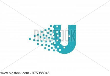 U Alphabet Letter Logo Icon For Company And Business. Creative Design For Corporate Identity