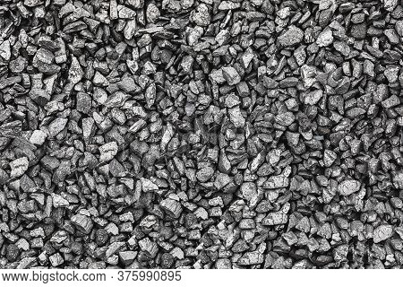 Texture Coal. Natural Black Coals For Background. Industrial Coal. Coal Mining. Shot Closeup Of Blac