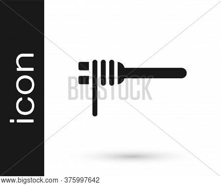 Black Pasta Spaghetti On The Fork Icon Isolated On White Background. Italian Restaurant. Vector