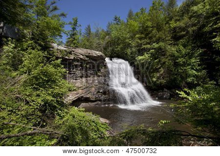 Swallow Falls State Park encompasses the Youghiogheny River and is home of Muddy Creek Falls.  This spectacular waterfall is 53 feet high and it is the highest in Maryland. poster