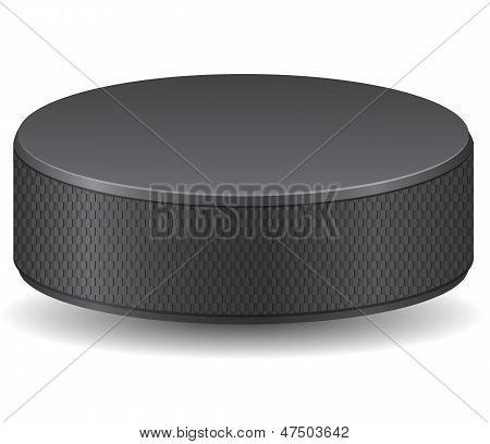 Hockey Puck Vector Illustration