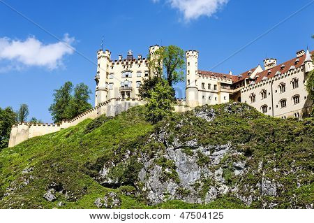 Hohenschwangau Castle On The Hill