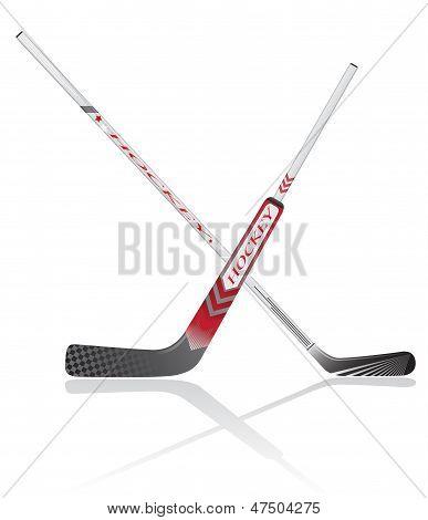 Hockey Sticks Vector Illustration