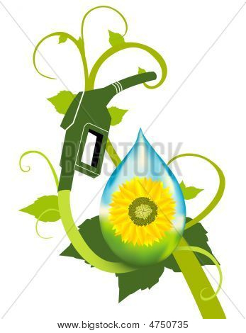 A bio fuel plant with sunflower ethanol featured. poster