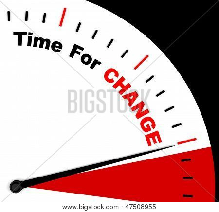 Time For Change Representing Different Strategy Or Varying