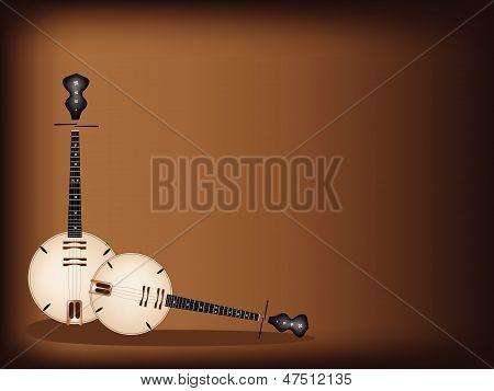 A Musical Dan Nguyet On Dark Brown Background