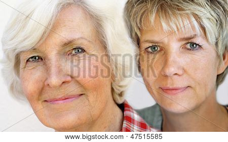 Senior and mature woman portrait, close up
