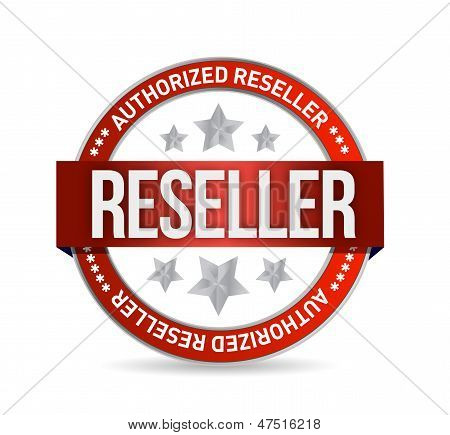 Authorized Reseller Seal Stam Illustration