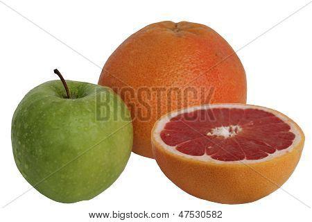An Apple Is Orange Greyfrukt.
