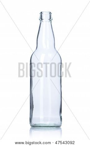 Clear Empty Glass Bottle