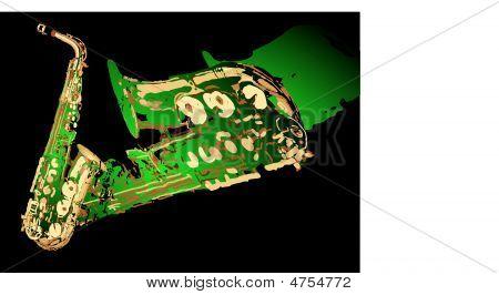Big green sax