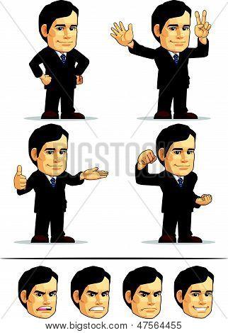Businessman Or Company Executive Mascot