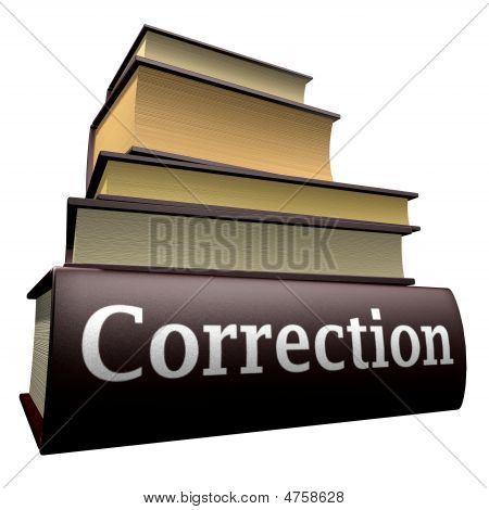 Education books - correction