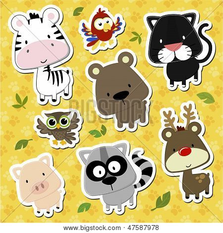 cute baby animals stickers