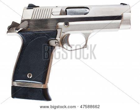 Stainless Handgun
