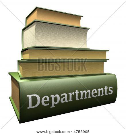 Education books - departments