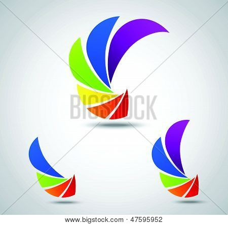 Set abstract design. colorful shutter