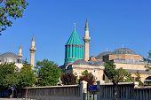 Mevlana museum and mosque in Konya Turkey poster