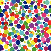 Vector - Seamless retro background of colorful dots poster