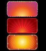 Set of Brightly Lit Neon Billboards. Nice 2d illustration. poster