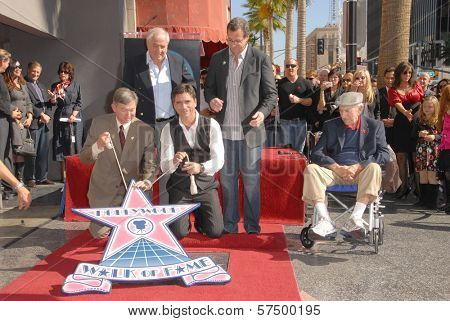 Leron Gubler, Garry Marshall, John Stamos, Bob Saget and Jack Klugman  at the induction ceremony of John Stamos into the Hollywood Walk of Fame, Hollywood Blvd., Hollywood, CA. 11-16-09