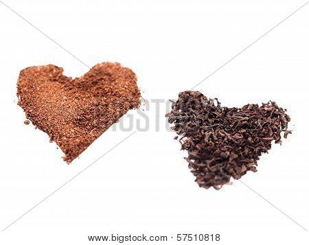 Tea And Coffee Heart