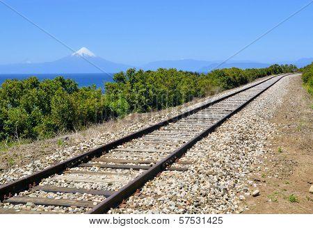 Railroad Near Lake Llanquihue, Chile