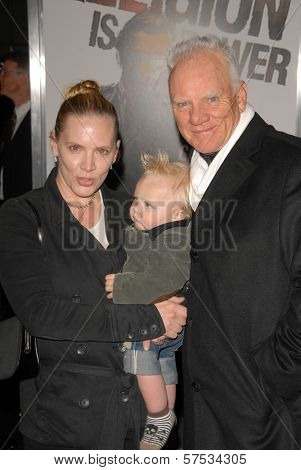 Malcolm McDowell and family  at 'The Book Of Eli' Premiere, Chinese Theater, Hollywood, CA. 01-11-10